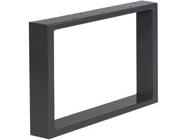 Design Tischkufen aus Vierkantprofilen 100x20 mm, Tischgestell, Tischbeine, 1 Stück, HLT-01-A-64 x 40 cm RAL 7016 Anthrazitgrau