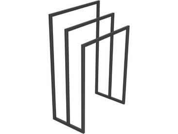Handtuchständer 3 Badetuchstangen Handtuchhalter Freistehend, Tiefe 30 cm HLMH-02B-50 cm 80 cm RAL 7016 Anthrazitgrau