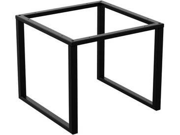 Couchtisch Kaffeetisch Wohnzimmertisch Industrie Design Metallgestell ohne Tischplatte, HLMK-02-RAL 9005 Tiefschwarz 50x50x43 cm