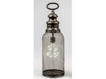 LED Laterne, Lampe HELGOLAND H. 44cm antik Metall + Glas Formano W18