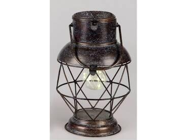 Deko Lampe, Laterne WILI TOBAGO mit Licht H. 29cm antikbraun Metall Formano