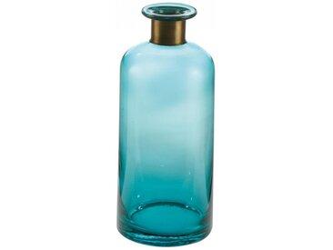 Glasvase Turquoise türkis L. 11,5cm B. 11,5cm H. 27cm Goebel