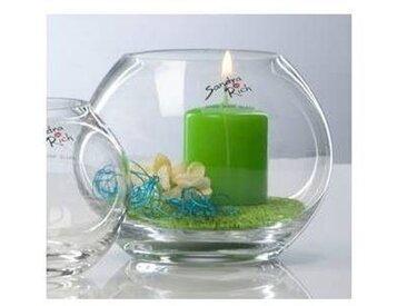 Kugelvase, Teelichthalter GLOBE KUGEL Glas H. 9,5cm D. 10cm Sandra Rich
