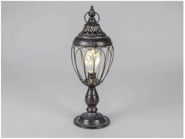 Deko Lampe, Laterne WILI TOBAGO mit Licht H. 44cm antikbraun Metall Formano W18