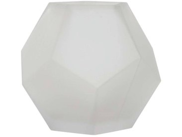 Vase JOOLZ Glas, Mattweiß, Ø 16cm H 13,5cm, Rudolph Keramik