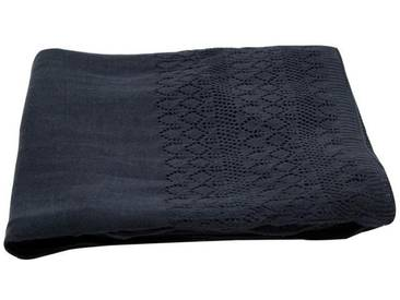 Decke, Tagesdecke, Wolldecke JAZZ dunkelblau 130x180cm Häkeloptik A.U. Maison WA