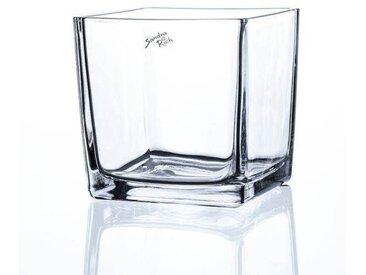 Teelichthalter Windlicht CUBE H. 14cm 14x14cm Glas transparent eckig Sandra Rich