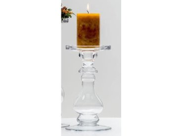 Kerzenhalter, Kerzenständer SHINE Glas H. 21cm D. 11,5cm rund Sandra Rich