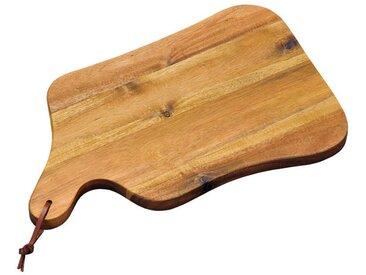 Homeware Schneid-& Servierbrett, braun, Holz