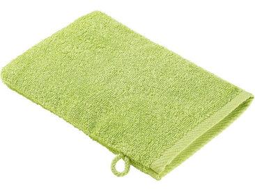 Zurbrüggen Waschhandschuh 16x22cm grün Quattro, grün, Baumwolle