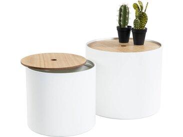 XORA Zweisatztisch TWIN, Weiß, MDF