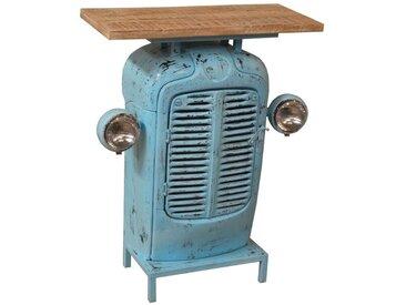 Z2 Barschrank Traktor BAR, Blau, Holz