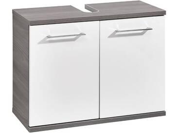 Pelipal Waschbeckenunterschrank FRESH LINE GRIGIO, weiß/grau, Materialmix