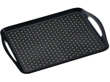 Kesper Serviertablett 45,5x32x4,5cm KESPER, schwarz, Kunststoff