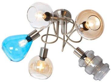 Nino Leuchten Deckenleuchte 5flg GIMARO, multicolour, Glas