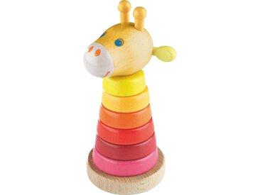 Haba Steckspiel Giraffe, Mehrfarbig, Holz