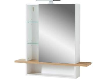 Zurbrüggen Spiegelschrank NOVOLINO, Weiß, Holznachbildung