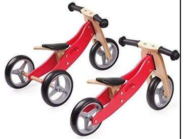Bieco Lauflernrad 2 Stufen rot, rot, Holz