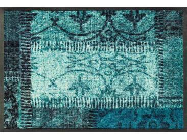 Kleen-Tex Fußmatte Vintage Patches türki, grün, Polyamid
