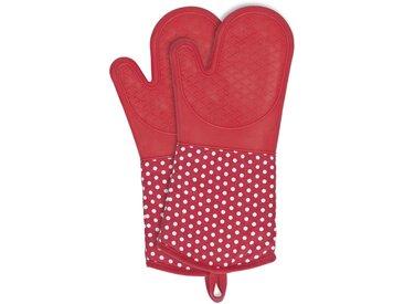 Zurbrüggen Topfhandschuhe Silikon Rot, rot, Baumwolle