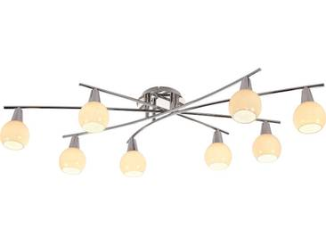 Nino Leuchten LED Spot 8flg DOXY, Weiß, Metall