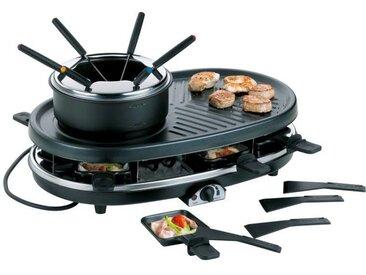 Kela Raclette/Grill/Fondue Bernadin FS02, schwarz, Stahl