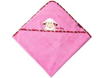 Morgenstern Kapuzentuch 100x100 cm Sleepy Sheepy, rosa, Baumwolle