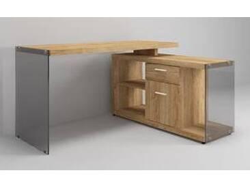 Jahnke Eck-Schreibtisch CGL-C-150E, eiche, Holznachbildung