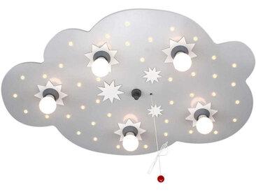 Elobra Sternenwolke mit LED, silber, Holz