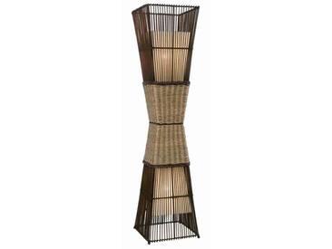 Nino Leuchten Stehleuchte 2-flg. Bamboo, braun, Holz