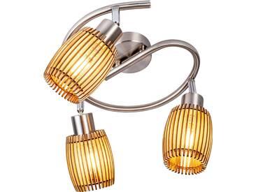 Nino Leuchten Spirale 3flg PARKEY, eiche, Metall
