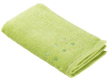 Zurbrüggen Gästetuch 30x50cm grün Quattro, grün, Baumwolle