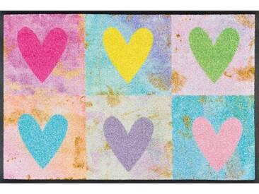 Kleen-Tex Fußmatte Candy Hearts, multicolour, Polyamid