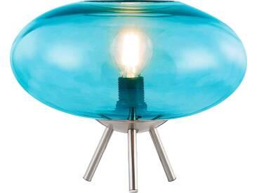 Nino Leuchten Tischleuchte 1flg LILLE, blau, Metall