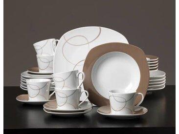 Ritzenhoff Kaffeeset 18-tlg. Alina Marron, braun, Porzellan