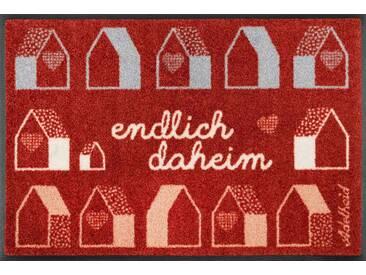 Kleen-Tex Fußmatte Endlich Daheim, rot, Polyamid