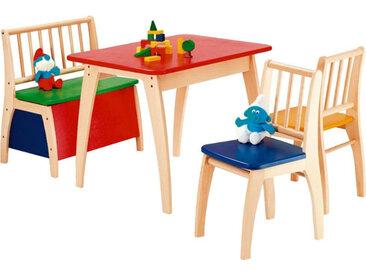 Zurbrüggen Sitzgruppe Bambino (Set 4tlg.), Mehrfarbig, Holz