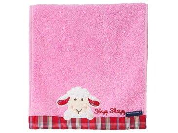 Morgenstern Gästetuch 30x50 cm Sleepy Sheepy, rosa, Baumwolle