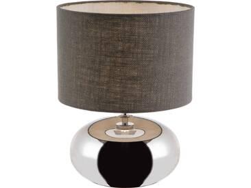 Nino Leuchten Tischleuchte 1flg ZOE, chrom, Keramik