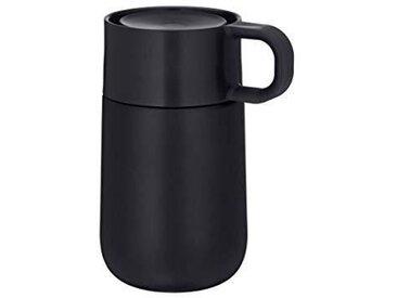 WMF Travel Mug Thermobecher matt s IMPULSE, schwarz, Metall