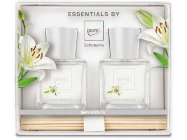 ipuro Raumduft WHITE LILY 2x50ml ESSENTIALS BY IPURO, transparent, Glas