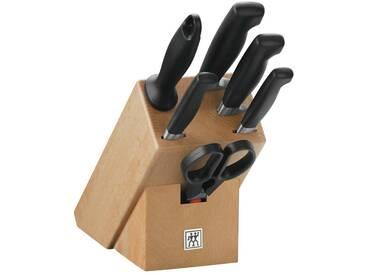 Zwilling Messerblock 7tlg. Vier Sterne VIER STERNE, schwarz, Holz