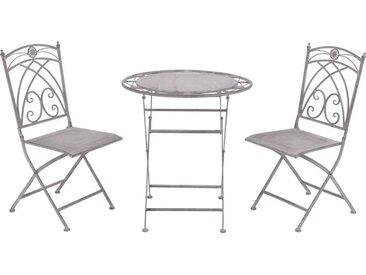 Ambia Balkon-Set BELLA, grau, Metall