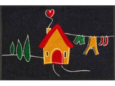 Kleen-Tex Fußmatte My Tiny Home, schwarz, Polyamid