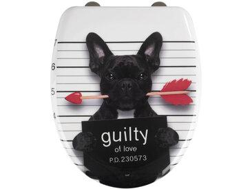 Zurbrüggen Premium WC-Sitz Guilty Dog, Mehrfarbig, Duroplast