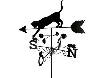 Zurbrüggen Wetterfahne Katze, Wetterhahn, schwarz, Metall
