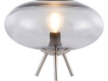 Nino Leuchten Tischleuchte 1flg LILLE, grau, Metall
