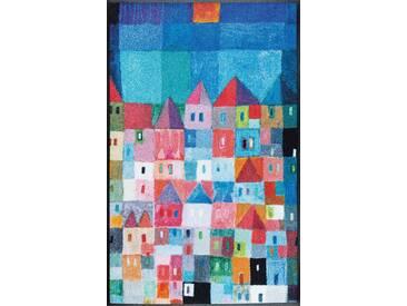 Kleen-Tex Fußmatte Colourful Houses, multicolour, Polyamid