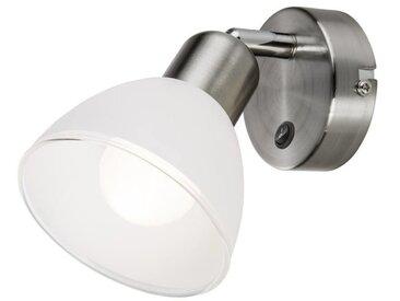 Nino Leuchten LED Spot 1-flg. Mattes, silber, Metall