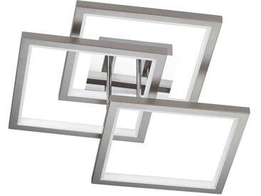 WOFI Leuchten Deckenleuchte 3-flg. VISO, chrom, Aluminium